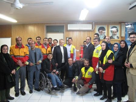 نشست صمیمانه اعضای شورای شهر با آتش نشانان گرگان