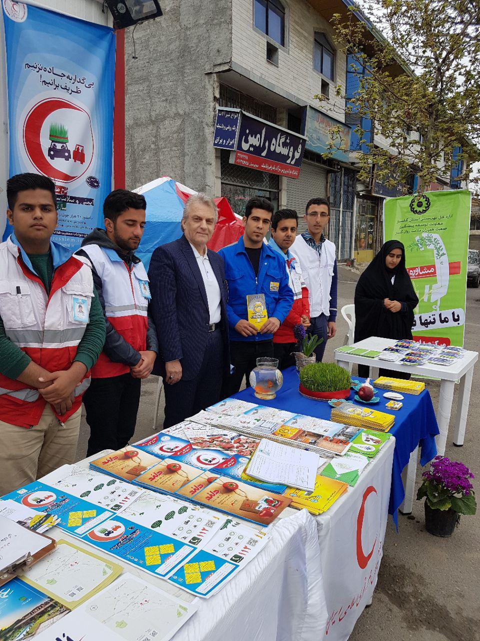 بازدید علیرضا پزشکپوراز کمپ نوروزی هلال احمر وبهزیستی شرقی گرگان